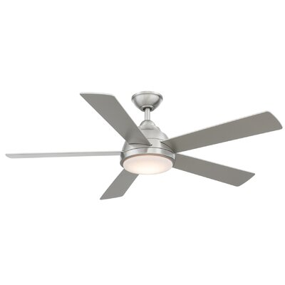 52 Celentano 5 Blade LED Ceiling Fan with Remote Finish: Stainless Steel with Silver Blades