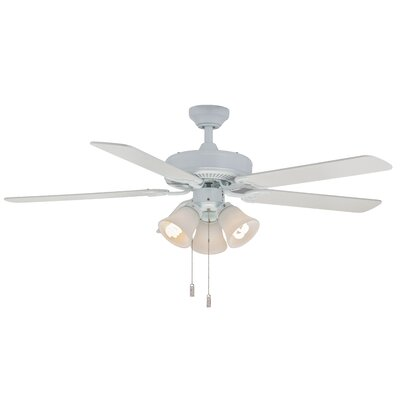 52 Philbrook 5-Blade Ceiling Fan Finish: White