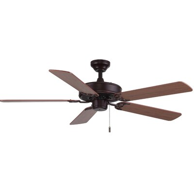 52 Philbrook 5-Blade Ceiling Fan Finish: Oiled Bronze with Maple/Walnut Blades