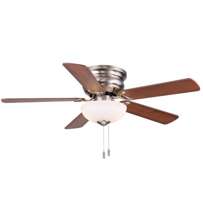 44 Frisco 5-Blade Ceiling Fan Finish: Nickel with Maple/Walnut Blades