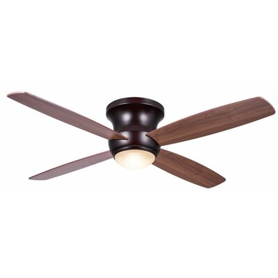 52 Mcdorman 4 Blade LED Ceiling Fan with Remote Finish: Oiled Bronze with Maple/Walnut Blades