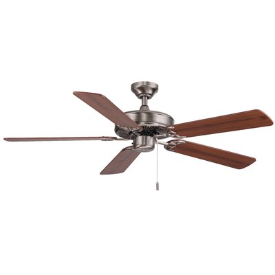 52 Philbrook 5-Blade Ceiling Fan Finish: Nickel with Maple/Walnut Blades
