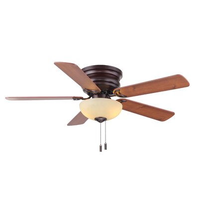 44 Castilleja 5-Blade Ceiling Fan Finish: Oiled Bronze with Maple/Walnut Blades
