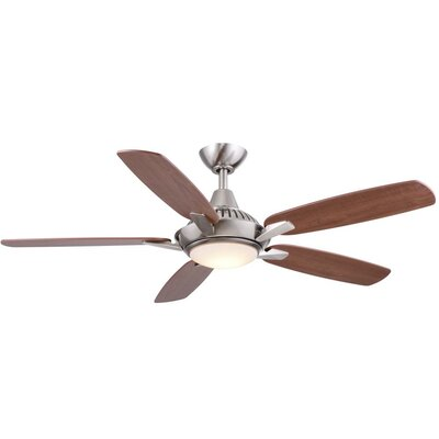 52 Vandeusen 5 Blade LED Ceiling Fan Finish: Nickel