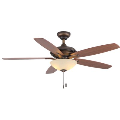 52 Vandiver 5-Blade Ceiling Fan Finish: French Beige