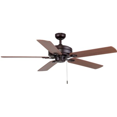 52 Vandoren 5-Blade Ceiling Fan Finish: Oiled Bronze