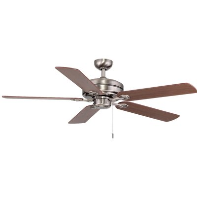 52 Vandoren 5-Blade Ceiling Fan Finish: Nickel