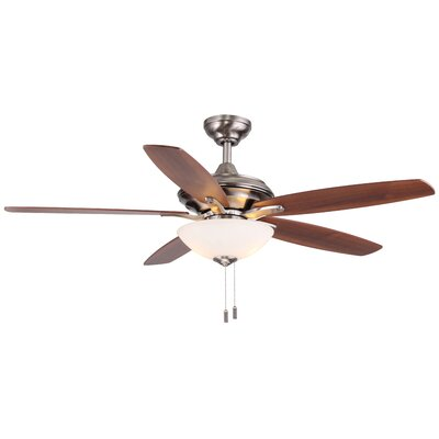52 Vandiver 5-Blade Ceiling Fan Finish: Nickel