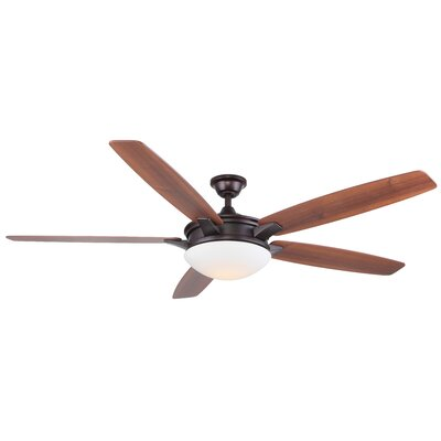 70 Vannorman 5 Blade LED Ceiling Fan with Remote Finish: Oiled Bronze