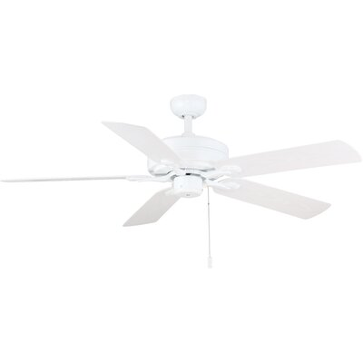 52 Dashwood 5-Blade Ceiling Fan Color: White