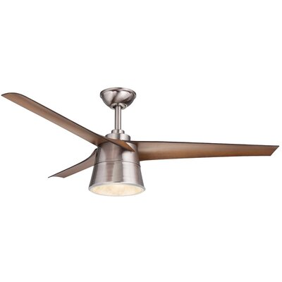 52 Celeste 3 Blade LED Ceiling Fan with Remote Finish: Walnut