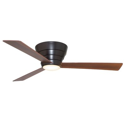 54 Malik 3 Blade Ceiling Fan with Remote Finish: Oiled Bronze with Dark Walnut Oiled Bronze Blades