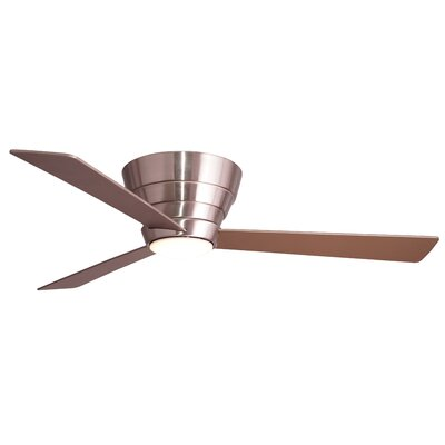54 Malik 3 Blade Ceiling Fan with Remote Finish: Stainless Steel with Silver Blades