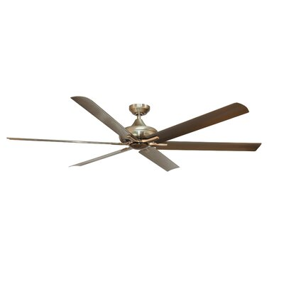 70 Ayling 6 Blade Ceiling Fan with Remote Finish: Stainless Steel