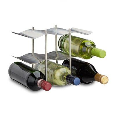 Weinregal für 9 Fl.   Küche und Esszimmer > Küchenregale > Weinregale   Silber/zinn   Edelstahl   Relaxdays