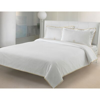 Gold 3 Piece Reversible Duvet Set Color: White, Size: Queen