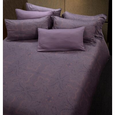 Lilas Reversible Duvet Cover Set Size: Queen