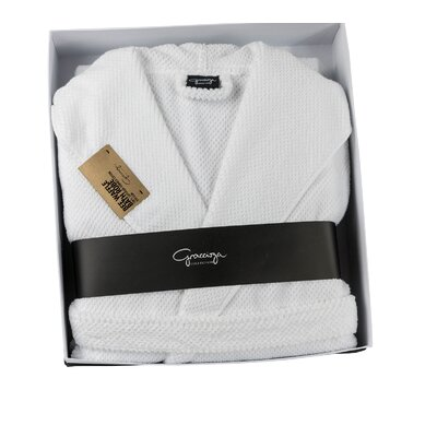 Waffle Terry Robe Size: Small / Medium, Color: White