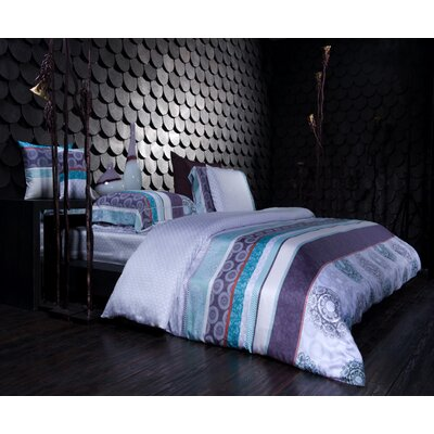 Sofia 3 Piece Reversible Duvet Cover Set Size: Queen