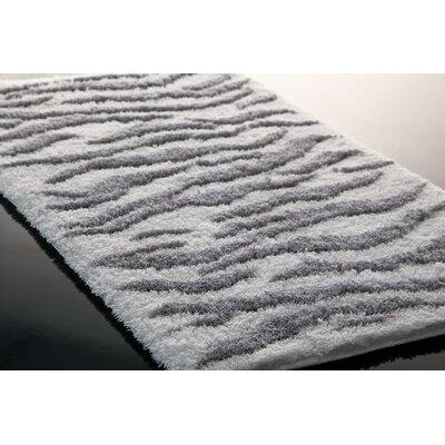Hizer Zebra Bath Rug Size: 63 x 31.5