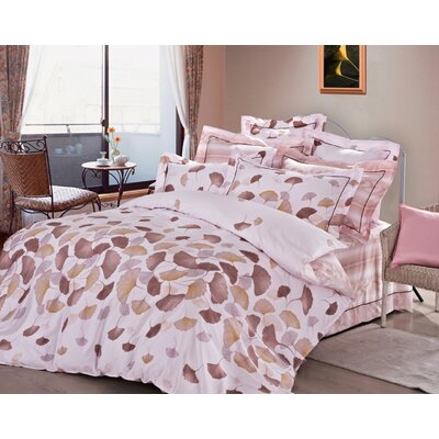 Rose Feuilles 3 Piece Reversible Duvet Cover Set Size: King