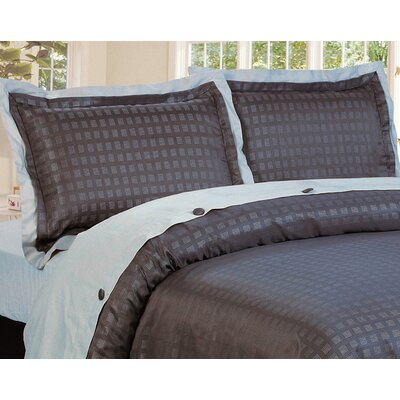 Envoy 3 Piece Reversible Duvet Cover Set Size: King