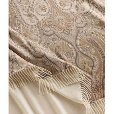 Marzotto Cristallo Cashmere Throw Color: Ivory