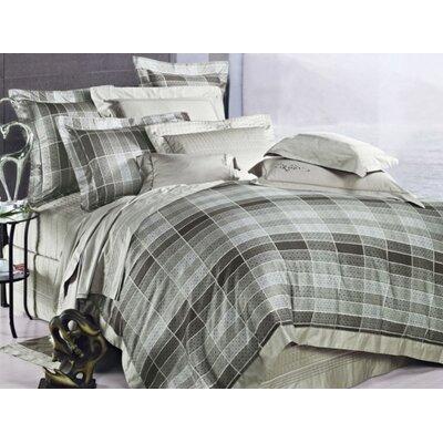 Oxford 3 Piece Reversible Duvet Cover Set Size: King