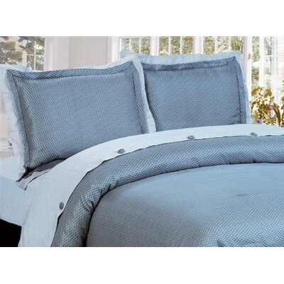 Regent 3 Piece Reversible Duvet Cover Set Size: King