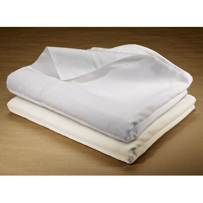 400 Thread Count Double Hemstitched 100% Cotton Sheet Set Size: King, Color: White