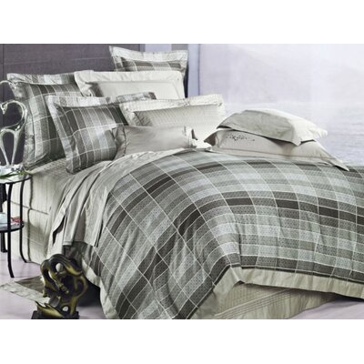 Oxford 3 Piece Reversible Duvet Cover Set Size: Queen