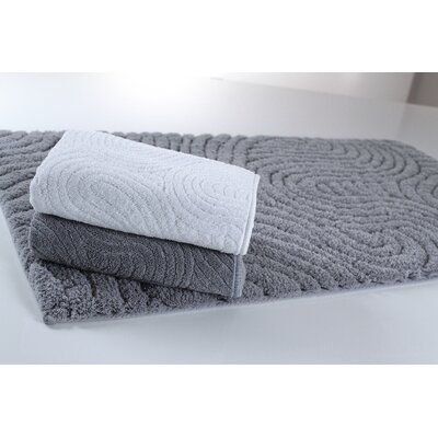 Graccioza Path Bath Rug Color: White, Size: 20 W x 31 L