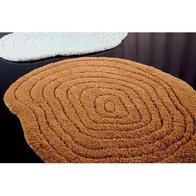 Graccioza Texture Bath Rug Size: 47, Color: Golden