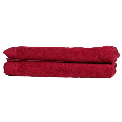 Diamond Bath Sheet Color: Bright Red
