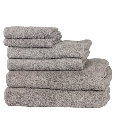 Hammam 6 Piece Towel Set Color: Marble Grey