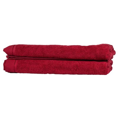 Diamond Guest Fingertip Towel Color: Bright Red
