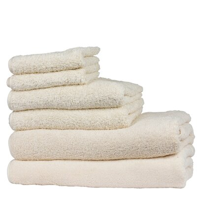 Hammam 6 Piece Towel Set Color: Ecru