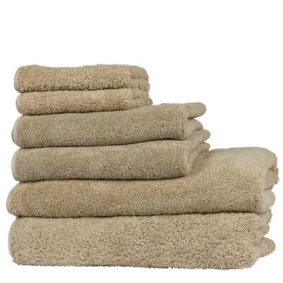 Hammam 6 Piece Towel Set Color: Sand