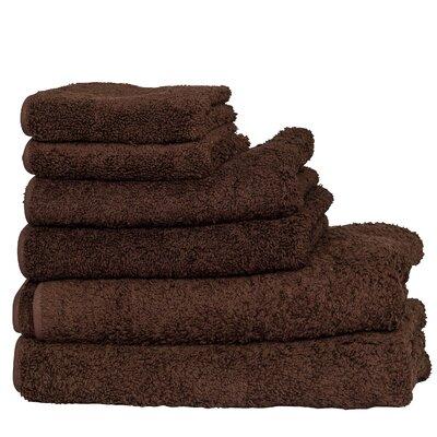 Hammam 6 Piece Towel Set Color: Dark Brown