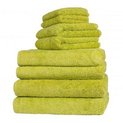 Graccioza Long Double Loop 6 Piece Towel Set Color: Jungle
