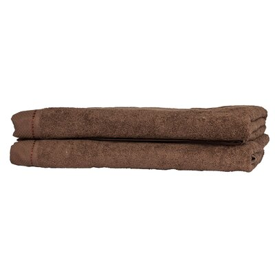 Diamond Guest Fingertip Towel Color: Chestnut
