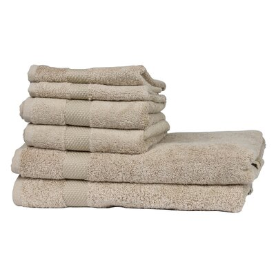 6 Piece Towel Set Color: Linen