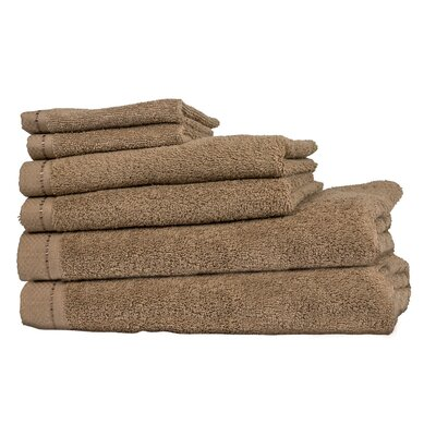 Diamond 6 Piece Towel Set Color: Taupe