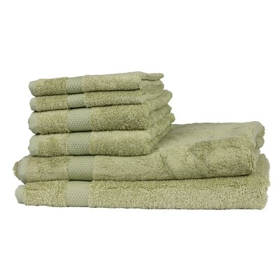6 Piece Towel Set Color: Thyme