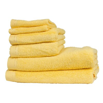 Diamond 6 Piece Towel Set Color: Travertine Yellow