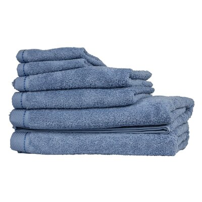 Diamond 6 Piece Towel Set Color: Ceramic Blue