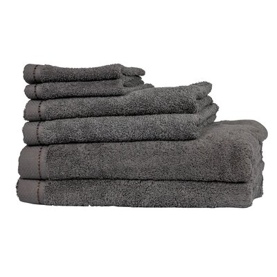Diamond 6 Piece Towel Set Color: Anthracite