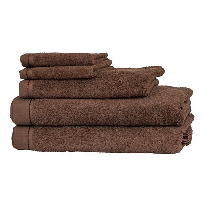 Diamond 6 Piece Towel Set Color: Chestnut