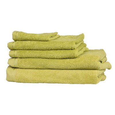 Diamond 6 Piece Towel Set Color: Lime Green