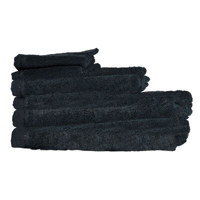 Diamond 6 Piece Towel Set Color: Black
